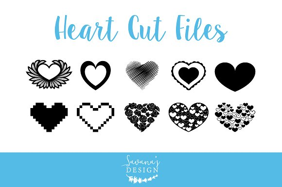 Heart Cut Files In SVG And EPS