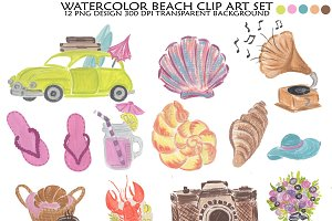 Beach clipart, Beach Illustration