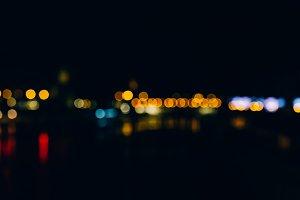 Defocused abstract night lights