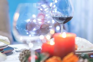 Close up of Festive dinner setting