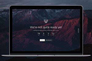 Bootstrap 4 Coming Soon Template