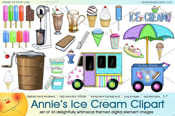 Annie's Ice Cream Clipart