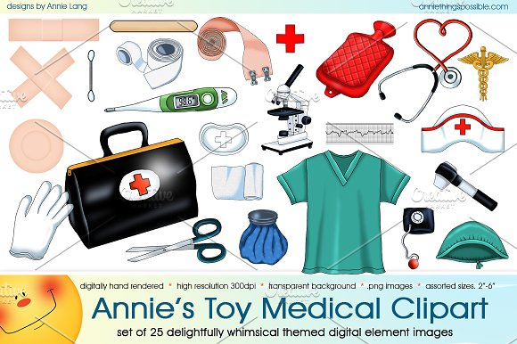 Annie's Toy Medical Clipart