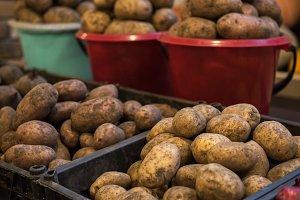 Potato at marketplace