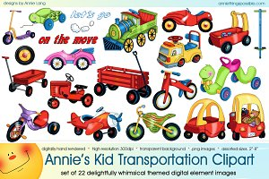 Annie's Kid Transportation Clipart