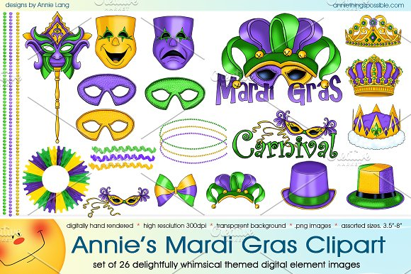 Annie's Mardi Gras Cipart