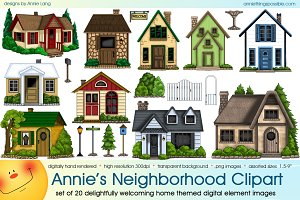 Annie's Neighborhood Clipart