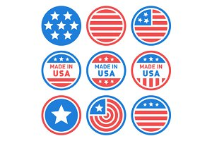 Made in USA Labels Set
