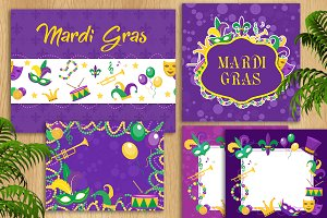 Mardi Gras template set