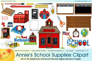 Annie's School Supplies Clipart