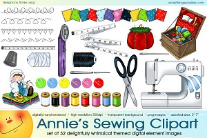 Annie's Sewing Supplies Clipart