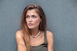 Stylish girl Grey