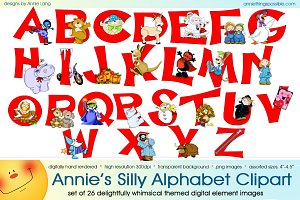 Annie's Silly Alphabet Clipart