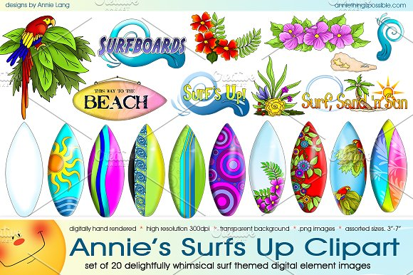 Annie's Surfs Up Clipart