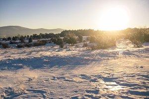 Sunlight in winter morning