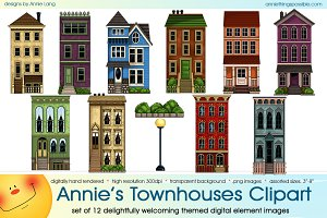 Annie's Townhouses Clipart