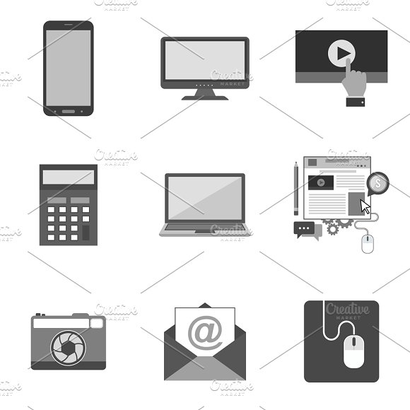 Nine Flat Icons Set 5 23