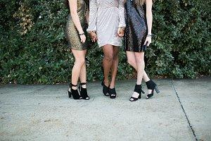 Sequin Dresses & Stylish Shoes