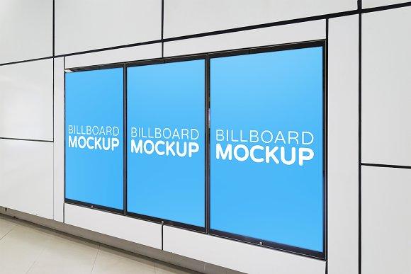 Subway Billboard Mockup #10
