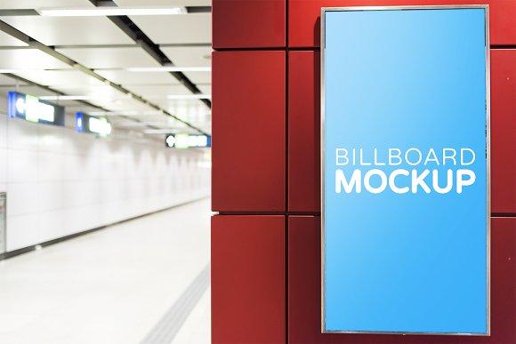 Subway Billboard Mockup #12