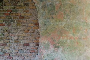 Old and Detailed Brick Wall