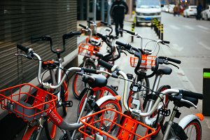 Mobike Bicycles in Beijing, China