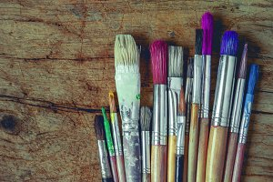 Brushes for painting
