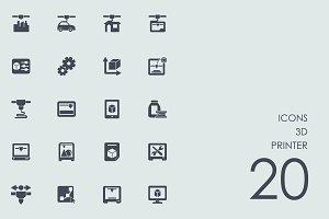 3d printer icons