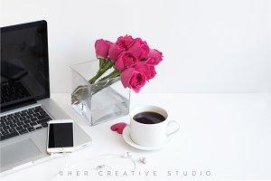 Styled Desktop, Pink Roses