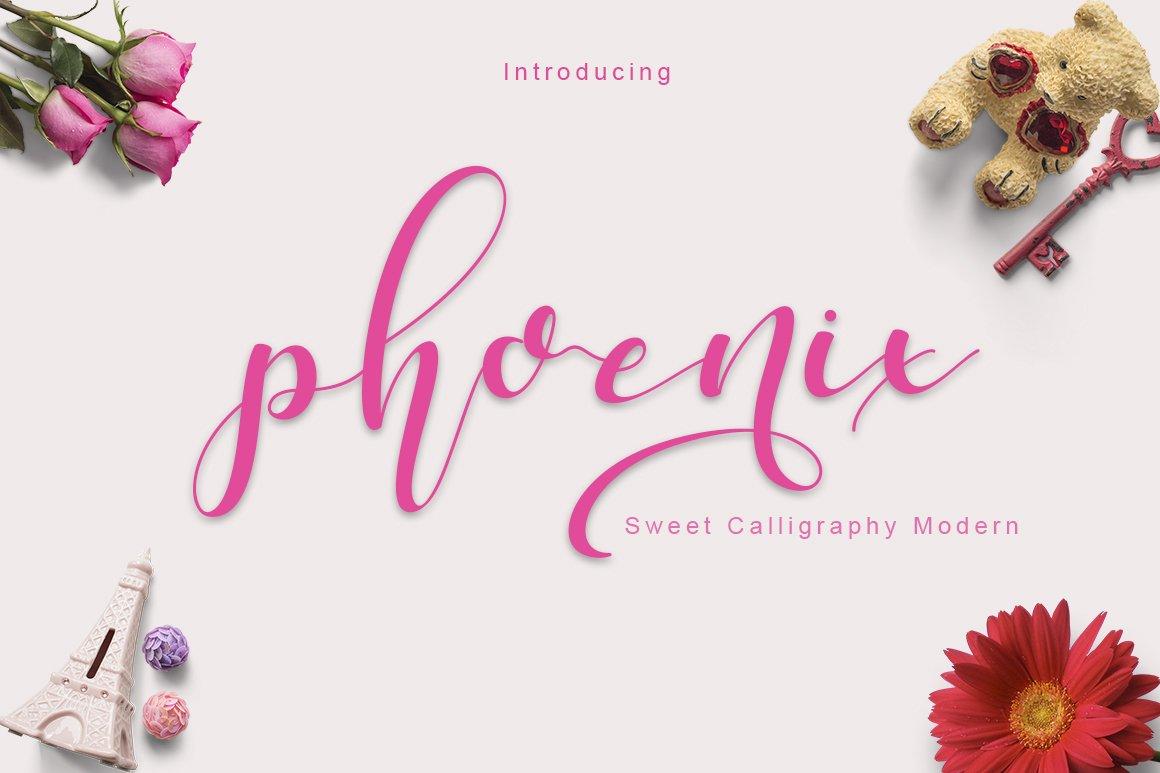 Phoenix Sweet Calligraphy Modern Script Fonts Creative Market