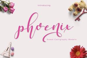 phoenix sweet calligraphy modern