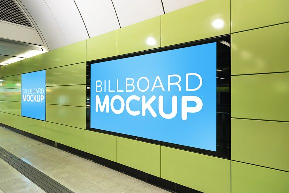 Subway Billboard Mockup #13