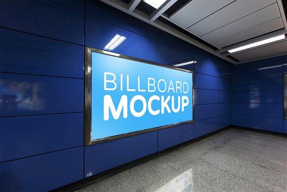 Subway Billboard Mockup #16