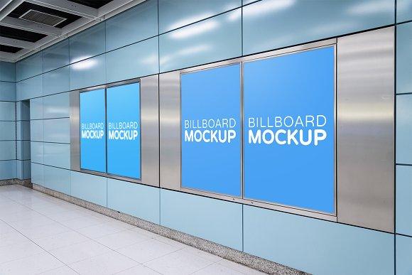 Subway Billboard Mockup #17