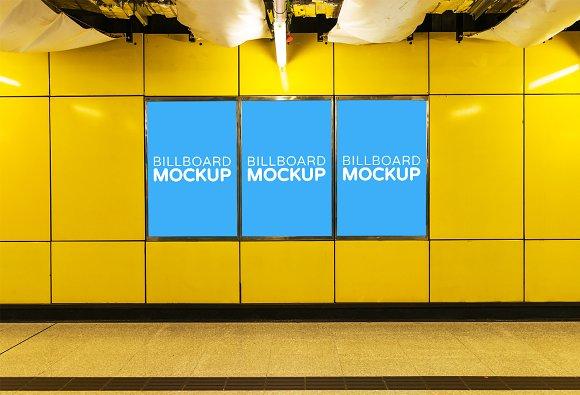 Subway Billboard Mockup #18