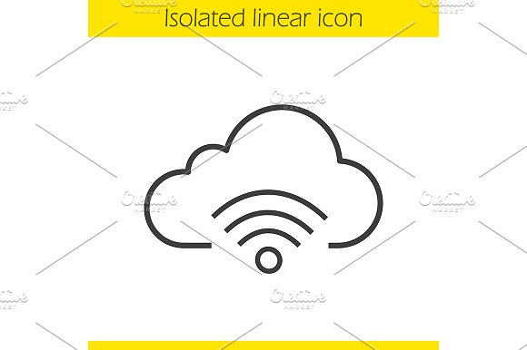Cloud Computing Wifi Icon Vector