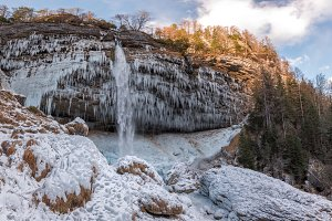 Frozen Pericnik waterfall