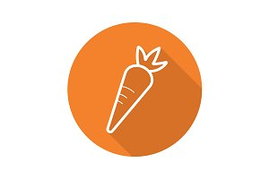 Carrot icon. Vector