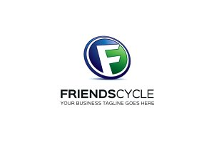 Friends Cycle Logo Template