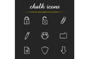 Digital. 9 icons. Vector