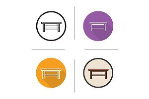 Wooden table. 4 icons. Vector