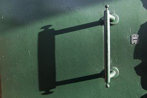 Door with handle