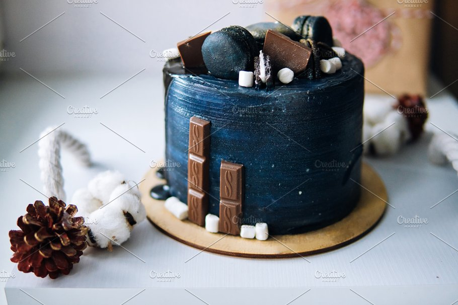 Beautiful Designer Chocolate Cake Abstract Photos Creative Market