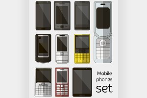 Mobile phones set