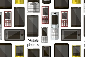 Mobile phones set pattern