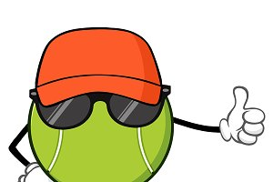 Tennis Ball Faceless With Hat