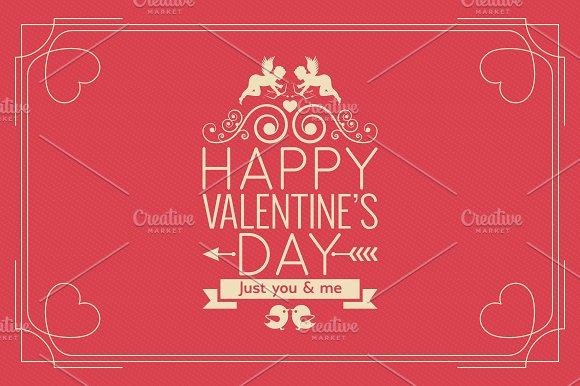 Valentines Day Border Vintage Poster