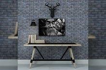 Loft Concept Artwork Frame Mockup