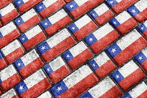 Chile Flag Urban Grunge Pattern