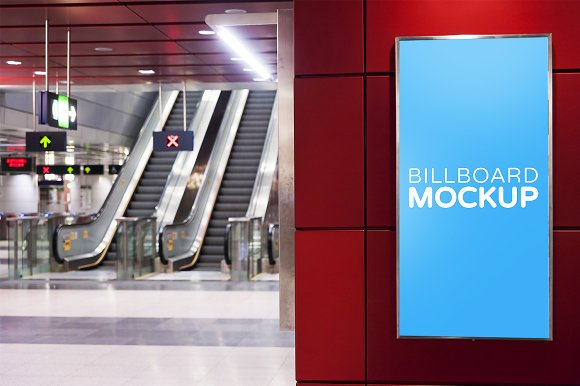Subway Billboard Mockup #20